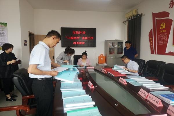 """临汾市统计局接受第三方评估公司-麦思德""""三基建设""""基础工作检查验收"""